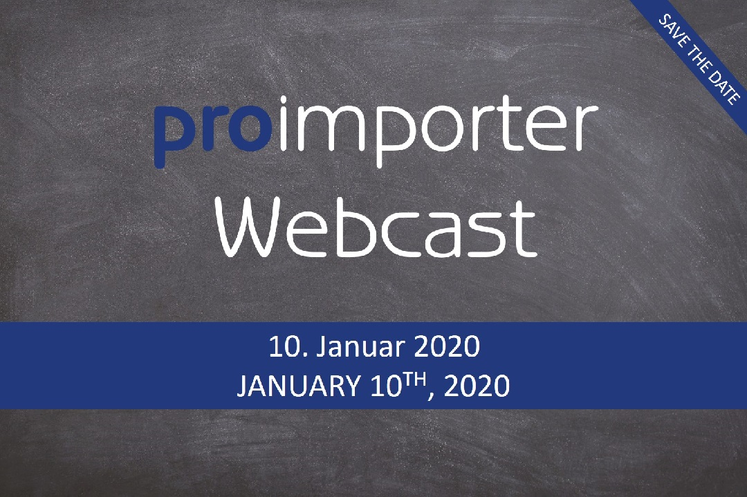 Learn in our webcast how the proimporter works and what release 19.12 brings with it.