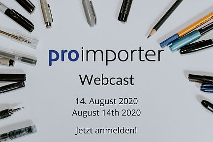 proimporter Webcast august, 12th 2020, from 9 to 10 am