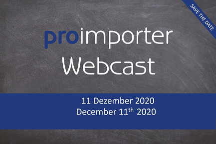 proimporter Webcast December 11th 2020 - 9 to 10 AM